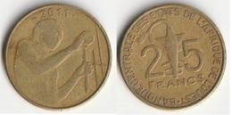 Piece 25 Francs 2011 Afrique De L'Ouest Origine Cote D'Ivoire - Elfenbeinküste