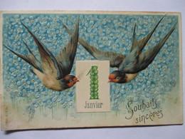 1 JANVIER    -   HIRONDELLES       -  GAUFFREE           TTB - New Year