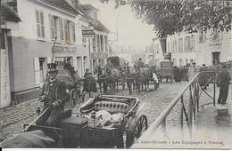 Cpa -PRESLES -? -LA SAINT HUBERT à Presles -Les  Equipages- écrite Voyagée Voir Cachet Dos Pour Origine -3 Cachets Dos - Postcards