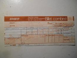 Billet SNCF Besse Sur Braye Sarthe (plus De Gare A Ce Jour) Montparnasse - Chemins De Fer