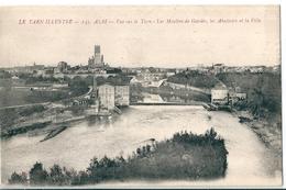 ALBI  ( 81 )   Vue Sur Le Tarn  -  Les Moulins De Gardes , Les Abattoirs Et La Vilie . - Albi