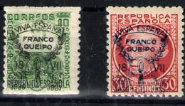 España Patrióticos Sevilla  Nº 38hcc Y 44hcc. Año 1937 - Nationalist Issues