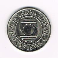 //  ZUID AFRIKA  PENNING  SUN INTERNATIONAL CASINOS 1 DOLLAR - Casino