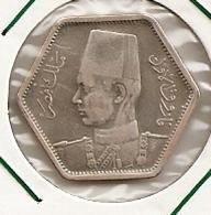 Egypt, Egipto Egypte 2 Piastres (1944) King Farouk KM# 369 RARE MINTAGE 32 000 RARE 100 - Egypte
