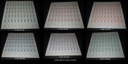 France 1956 Neuf** N° 1082 , 1083 , 1084 , 1085 , 1086 , 1087  EN FEUILLE COMPLETE FULL SHEET - Full Sheets