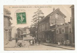 Cp , 91 , SAVIGNY SUR ORGE ,  Une Rue ,  Quartier De La Poste, Voyagée - Savigny Sur Orge
