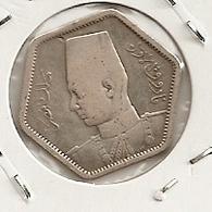 Egypt, Egipto Egypte 2 Piastres (1944) King Farouk KM# 369 RARE MINTAGE 32 000 RARE 101 - Aegypten
