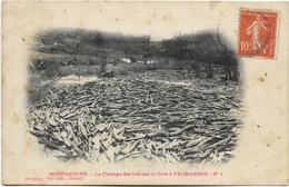 58 - MONTSAUCHE - Le Flottage Des Bois Sur La Cure à PALMAROUX. CPA Ayant Circulé En 1908. - Montsauche Les Settons