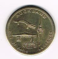 //  NEW ZEALAND  AUCKLAND CITY OF SAILS KYTOWER SOUVENIR COIN - Souvenirmunten (elongated Coins)