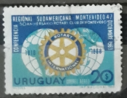 URUGUAY 1969 Airmail - South American Regional Rotary Conference, And 50th Anniversary Of The Rotary Club. USADO - USED. - Uruguay