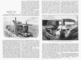 """TERRASSIER à VAPEUR """" RUSTON,PROCTOR Et Cie """"  1901 - Technical"""