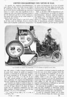 """COMPTEUR   """" HORO-KILOMETRIQUE  """" Pour VOITURE DE PLACE   1901 - Transportation"""