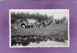 88 VENTRON  Carte Photo Céremonie Religieuse à Frère Joseph Devant La Grotte Grosse Animation - Andere Gemeenten