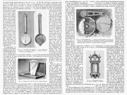 "HYGROMETRE "" LAMBRECHT "" POLYMETRE- THERMO-HYGROSCOPE -TELEGRAPHE DU TEMPS    1901 - Sonstige"