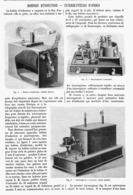 BOBINES D'INDUCTION - INTERRUPTEURS RAPIDES   1901 - Technical