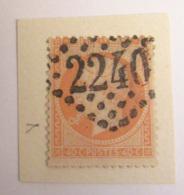 """Timbre Napoléon III 40c YT N°23 - Variété """"BULLE"""" à Gauche Du Bouc - Oblitéré GC 2240 - 1862 Napoleon III"""