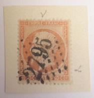 """Timbre Napoléon III 40c YT N°23 - Variété """"Corne"""" Au Dessus Des Cheveux + Défaut D'impression En Bas à Droite - Ob. - 1862 Napoléon III"""