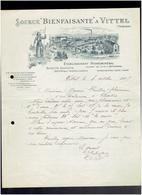 FACTURE 1905 ETABLISSEMENT HYDROMINERAL DES SOURCES DE VITTEL VOSGES SAINTE JEANNE D ARC - 1900 – 1949