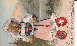 Gruss Aus Bern. Ours. Un Coin Un Peu Arrondi 2 Scans - BE Bern