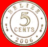 + COLONIAL PORTRAIT (1976-2016): BELIZE ★ 5 CENTS 2006 MINT LUSTER! LOW START ★ NO RESERVE! - Belize