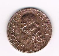 //  LEONARDO  DA VINCI  PENNING - Pièces écrasées (Elongated Coins)