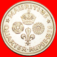 + GREAT BRITAIN: MAURITIUS ★ 1/4 RUPEE 1978! LOW START ★ NO RESERVE! - Mauritius