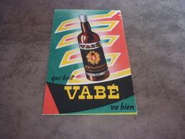 8/191 Mini Calendrier (7 X 11 Cm) 1956 Vin Doux Naturel Vabé Sans Annotation Distillerie Suze Alfort - Calendars