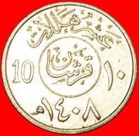 + GREAT BRITAIN: SAUDI ARABIA ★ 10 HALALA / 2 GHIRSH 1408 (1988) MINT LUSTER! LOW START ★ NO RESERVE! - Saudi Arabia