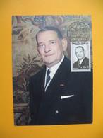 Carte Maximum   1964  N° 1412 Le Président René Coty - 1960-69