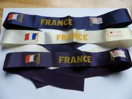 (Compagnie Générale Transatlantique) - Paquebot FRANCE - Lot De 3 Rubans (Bachi Marin ??).....voir Scans - Boats