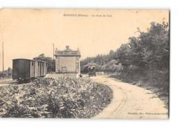 CPA 69 Monsols La Gare Le Train Tramway Ligne De Villefranche Tarare - France