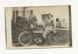 CARTE PHOTO MILITAIRE SUR MOTO GUERRE 1914/ 1918 GROS PLAN - Weltkrieg 1914-18