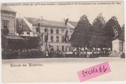 Tienen, Thienen, Tirlemont,Estrade Des Autorités,feest Nav 75 Jaar België,1905,  Collectors Item! - Tienen