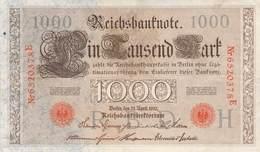 1.000 Mark Reichsbanknote VF/F (III) - [ 2] 1871-1918 : German Empire