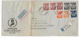 1939 - YOUGOSLAVIE - ENVELOPPE RECOMMANDEE De BELGRADE => MONTLUCON - 1931-1941 Königreich Jugoslawien