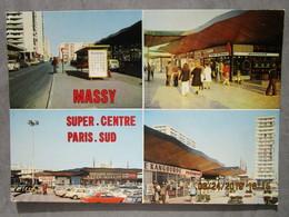 CP 91 MASSY Super Centre Paris Sud Essonne - La Rue Des Canadiens, Le Centre, Le Parking Super Marché SUMA, Le Kangourou - Massy