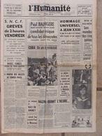 Journal L'Humanité (5 Juin 1963) Hommage à Jean XXIII - Spéléos Ardèche - Nazim Hikmet - 1950 à Nos Jours