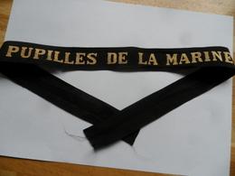 """(Militaria - Marine Nationale.....)  -  Ruban De Bachi  """" Pupilles De La Marine """" ......voir Scans - Cascos"""