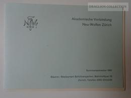 E0325 Akademische Verbindung Neu-Welfen - Zürich  Sommersemester 1961 - Programs