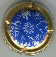 CAPSULE-CHAMPAGNE FEUILLATTE NICOLAS N°59a Edition Limitée, Fond Bleu - Feuillate