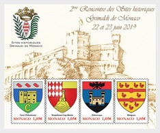 H01 Monaco 2019 Historical Sites Of Hte Grimaldis Of Monaco MNH Postfrisch - Monaco