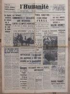 Journal L'Humanité (6 Juin 1963) Goule De Foussoubie - Obsèques Nazim Hikmet - F Castro - Conclave - 1950 à Nos Jours