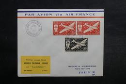 NOUVELLE CALÉDONIE - Enveloppe Du 1 Er Vol Nouvelle Calédonie / France En 1953 - L 33065 - Neukaledonien