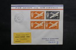 NOUVELLE CALÉDONIE - Enveloppe Du 1 Er Vol Nouvelle Calédonie / France En 1953 - L 33066 - Neukaledonien