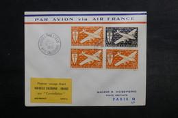 NOUVELLE CALÉDONIE - Enveloppe Du 1 Er Vol Nouvelle Calédonie / France En 1953 - L 33067 - Neukaledonien