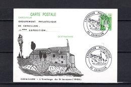 FRANCE  LUXE  C M  EXPOSITION  PHILATELIQUE  CAVAILLON  26/5/79 - Cartes-Maximum