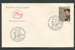 FDC ITALIA 2008 - CAVALLINO - ANNIVERSARIO NASCITA GIACOMO PUCCINI - 702 - 1946-.. République