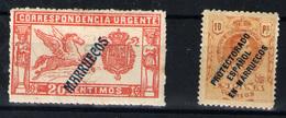 Marruecos Español Nº 42 Y 55. Año 1914/15 - Marruecos Español