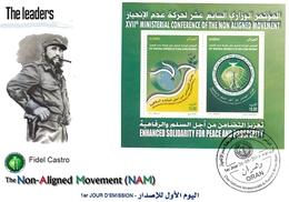 DZ Algérie 1687 FDC Fidel Castro CUBA Célébrités Révolution Cubaine Leaders Des Pays Non Alignés - Argelia (1962-...)