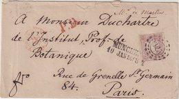 """ALLEMAGNE : BAVIERE . N° 21 . SEUL SUR LETTRE . DE """" MUNICH """" . POUR PARIS . TB . 1868 . - Bavaria"""
